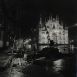 Piazza Duomo, Vista notturna, Dicembre 1960, foto: Giancolombo News Photos